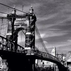 Photo taken at John A. Roebling Suspension Bridge by Ryan M. on 11/5/2012