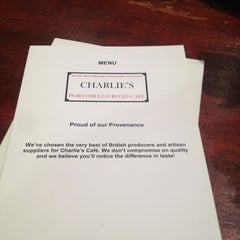 Photo taken at Charlie's Café by Victoria M. on 2/22/2013