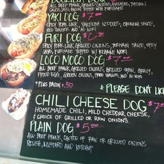 Photo taken at Dogzilla Hot Dogs Truck by Matthieu R. on 1/31/2013