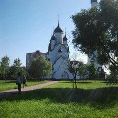 Photo taken at Парк Строителей by Olga S. on 7/26/2013