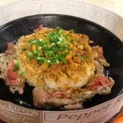 Photo taken at ペッパーランチ イオン幕張店 by Yuichi M. on 12/17/2012