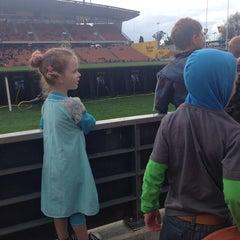 Photo taken at Waikato Stadium by Alice J. on 9/27/2014