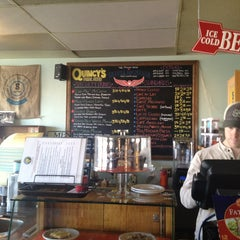 Photo taken at Quincy's Cafe & Espresso by Anne M. on 1/18/2013