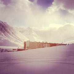 Photo taken at Tignes by Suzanne V. on 2/9/2013