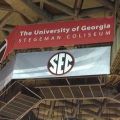 Photo taken at Stegeman Coliseum by Drew R. on 10/12/2012