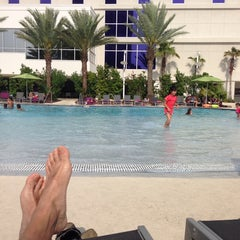 Photo taken at Hard Rock Hotel Pool by Gerald H. on 4/27/2014