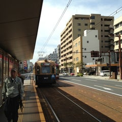 Photo taken at 広島電鉄 寺町電停 (Tera-machi Sta.) (Y2) by Masanori S. on 5/9/2013