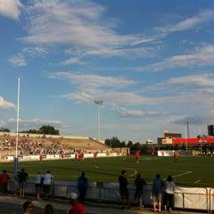 Photo taken at Lamport Stadium by Eduardo H. on 7/20/2013