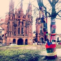 Photo taken at Šv. Onos Bažnyčia   St Anne's Church by Kris B. on 1/4/2013
