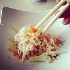 Photo taken at Fusion Fire Asian Fondue & Sushi Bar by Emily M. on 12/1/2012