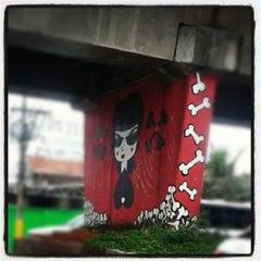 Photo taken at Museu Aberto de Arte Urbana by Mayara N. on 10/22/2012