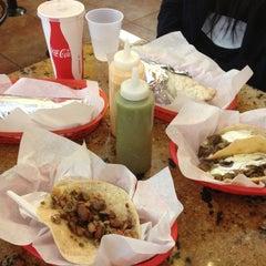 Photo taken at La Victoria Taqueria by Christine T. on 1/4/2013