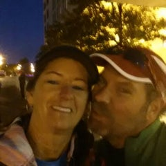 Photo taken at Rock n Roll Savannah Marathon Start by Cynda R. on 11/9/2013