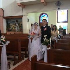 Photo taken at Gereja Katolik Kristus Raja by Merry C. on 5/10/2014