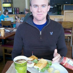 Photo taken at Atlanta Bread Company by Justine D. on 11/18/2012