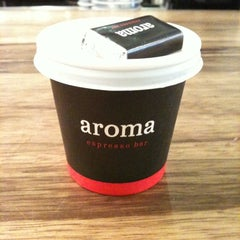 Photo taken at Aroma Espresso Bar by Daniel M. on 2/24/2011