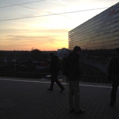 Photo taken at Bahnhof Frankfurt-Niederrad by Alex B. on 1/17/2012