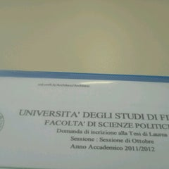 Photo taken at Biblioteca di Scienze Sociali by Alpho on 8/31/2012