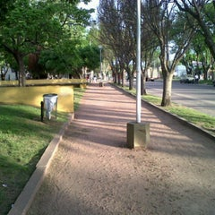 Photo taken at Plaza Falucho by Juan M. on 10/25/2011