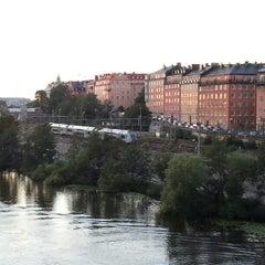Photo taken at Sankt Eriksbron by George A. on 8/14/2012