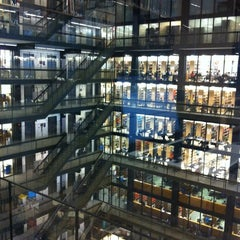 Photo taken at NYU Bobst Library by Sanna C. on 3/26/2012