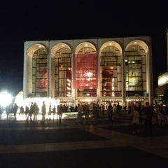Photo taken at Lincoln Center Plaza (Josie Robertson Plaza) by Christopher S. on 8/19/2012