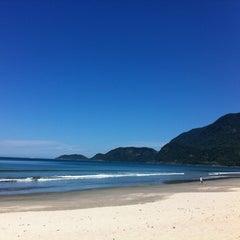 Photo taken at Praia de Guaecá by Carol P. on 10/25/2011