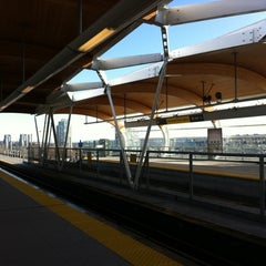 Photo taken at Brentwood Town Centre SkyTrain Station by Allie B. on 2/25/2011