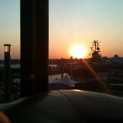 Photo taken at Hudson Terrace by Mindy W. on 8/31/2012