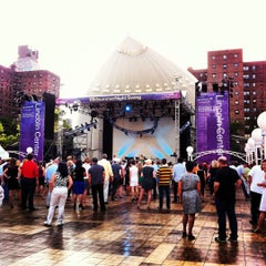 Photo taken at Damrosch Park by James S. on 7/10/2012