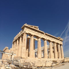 Photo taken at Ακρόπολη Αθηνών (Acropolis of Athens) by shaz c. on 5/28/2013