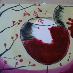 Photo taken at Wine And Canvas Art Studio by Adrienne on 11/18/2012