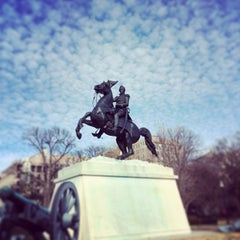 Photo taken at Andrew Jackson Statue by Eric F. on 1/1/2014