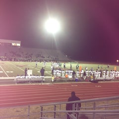 Photo taken at Wilmer Hutchins Football Stadium by Wina 💟 W. on 11/16/2012