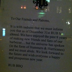 Photo taken at RUB (Righteous Urban BBQ) by Benjamin R. on 1/5/2013