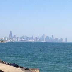 Photo taken at Chicago's Lakefront (Hyde Park) by Erik D. on 7/11/2013