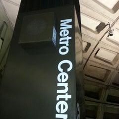 Photo taken at Metro Center Metro Station by K C. on 3/31/2013