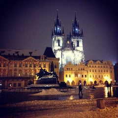 Photo taken at Staroměstské náměstí | Old Town Square by Anya K. on 2/25/2013