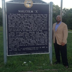 Photo taken at Malcolm X  Birthsite by Bryan K. on 8/24/2014
