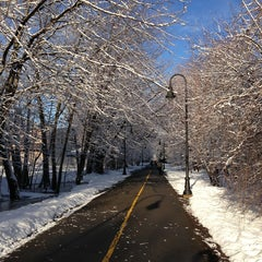 Photo taken at Grove-Cedar Bike Path by Darcy D. on 4/9/2013