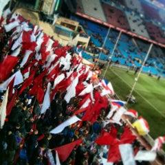 Photo taken at Estadio Vicente Calderón by Cheo M. on 2/14/2013