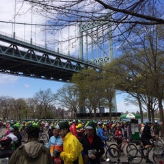Photo taken at Astoria Park Parking Lot by Laura S. on 5/4/2014