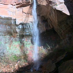 Photo taken at Emerald Pool Trail by Mike C. on 4/10/2016