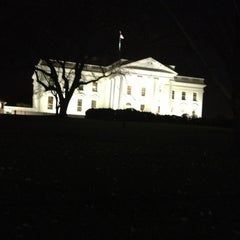 Photo taken at The White House Southeast Gate by Evelyn F. on 12/4/2012