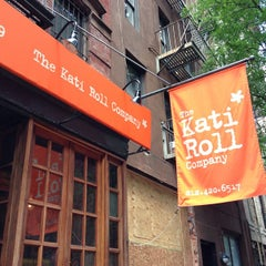 Photo taken at The Kati Roll Company by Mark E. on 7/15/2013