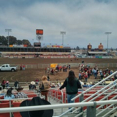 Photo taken at California Rodeo Salinas by Isolina M. on 7/20/2013