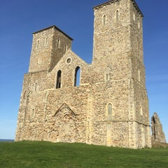 Photo taken at Reculver Towers and Roman Fort by Stuart C. on 4/11/2015