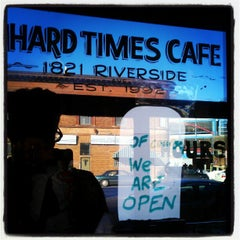 Photo taken at Hard Times Cafe by Aaron N. on 12/25/2012