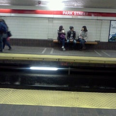 Photo taken at MBTA Park Street Station by Sabrina T. on 11/5/2012