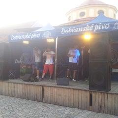Photo taken at Pivovar Modrá Hvězda by Václav P. on 7/26/2014